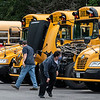 READFIELD, ME - SEPTEMBER 3: Maranacook Schools transportation personnel go through pre-trip inspections before heading out for afternoon runs Friday September 3, 2021 at the Maranacook School bus depot in Readfield. (Staff photo by Joe Phelan/Staff Photographer)