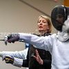 PORTLAND, ME - JULY 16: Head coach Nancy Reynolds talks students during a class Friday July 16, 2021 at The Portland Fencing Center. (Staff photo by Joe Phelan/Staff Photographer)