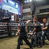 BANGOR, MAINE- JULY 23, 2021<br /> Bull rider Ben Morales, is carried out of the arena on a stretcher with a dislocated hip after being thrown from the bull Chug A Lug, during PBR Velocity Tour rodeo competition at the Cross Insurance Center on Friday, July 23, 2021. (Staff Photo by Michael G. Seamans/Staff Photographer)