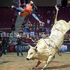 BANGOR, MAINE- JULY 23, 2021<br /> Joao Paulo Fernandez gets tossed from the back of Wooly Bully during PBR Velocity Tour rodeo competition at the Cross Insurance Center on Friday, July 23, 2021. (Staff Photo by Michael G. Seamans/Staff Photographer)