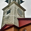 READFIELD, ME - SEPTEMBER 24: This Friday September 24, 2021 photo shows the tower when the clock will be reinstalled at the Readfield Union Meeting House in Readfield.  (Staff photo by Joe Phelan/Staff Photographer)