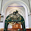 READFIELD, ME - SEPTEMBER 24: The recently repaired clock sits in the front of room  Friday September 24, 2021 at the Readfield Union Meeting House in Readfield.  (Staff photo by Joe Phelan/Staff Photographer)