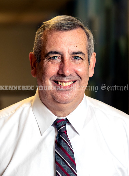 MONMOUTH, ME - SEPTEMBER 21: Soon to be former principal Rick Amero poses for a portrait Tuesday September 21, 2021 at Monmouth Academy. (Staff photo by Joe Phelan/Staff Photographer)