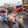 SKOWHEGAN, MAINE- AUGUST 5, 2021<br /> Team You Snooze You Lose prepares for the start of the annual bed races on Water Street in downtown Skowhegan as part of Main Street River Fest on Thursday, August 5, 2021. (Staff Photo by Michael G. Seamans/Staff Photographer)