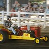 15243# 01fair SKOWHEGAN, MAINE AUGUST 15, 2021. A driver throttles up during the Pine Tree Mini Pullers competition at the Skowhegan State Fair in Skowhegan, Maine Sunday August 15, 2021. (Rich Abrahamson/Morning Sentinel)
