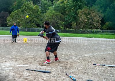 Softball batting practice
