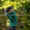 VASSALBORO, ME - OCTOBER 8: Leavitt's Ruby Haycock hits a drive during State Class B golf tournament Friday October 8, 2021 at Natanis Golf Club in Vassalboro. (Staff photo by Joe Phelan/Staff Photographer)