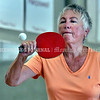 BRUNSWICK, ME - JULY 21: Eva Kondor returns a shot during a table tennis game <br /> Wednesday July 21, 2021 at Spectrum Generations in Brunswick. (Staff photo by Joe Phelan/Staff Photographer)