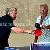 BRUNSWICK, ME - JULY 21: Steve Winter, left, and Steven Kondor (CQ) play doubles table tennis Wednesday July 21, 2021 at Spectrum Generations in Brunswick. (Staff photo by Joe Phelan/Staff Photographer)