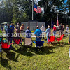 WINDSOR, ME - SEPTEMBER 11: People stand during dedication ceremony Saturday September 11, 2021 for the new veteran's memorial in Windsor. (Staff photo by Joe Phelan/Staff Photographer)
