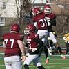 Fitchburg High School football played Tantasqua Regional High School on Saturday, Nov. 16, 2019. FHS's #9 Donnovan DeLeon celebrates his touchdown with teammate #31 Nico Caputi. SENTINEL & ENTERPRISE/JOHN LOVE
