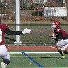 Fitchburg High School football played Tantasqua Regional High School on Saturday, Nov. 16, 2019. FHS's #9 Donnovan DeLeon was wide open n the endzone for their first score of the game. SENTINEL & ENTERPRISE/JOHN LOVE