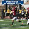 Fitchburg High School football played Tantasqua Regional High School on Saturday, Nov. 16, 2019. FHS's #9 Donnovan DeLeon celebrates his touchdown. SENTINEL & ENTERPRISE/JOHN LOVE