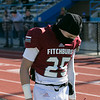 Fitchburg High School football played Tantasqua Regional High School on Saturday, Nov. 16, 2019. FHS's #25 Miguel Torres on the side lines after getting a an unsportsmanlike penalty. SENTINEL & ENTERPRISE/JOHN LOVE