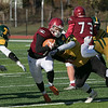 Fitchburg High School football played Tantasqua Regional High School on Saturday, Nov. 16, 2019. FHS's #7 Anthony Oquendo. SENTINEL & ENTERPRISE/JOHN LOVE