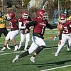Fitchburg High School football played Tantasqua Regional High School on Saturday, Nov. 16, 2019. FHS's #1 Montgomery Graham. SENTINEL & ENTERPRISE/JOHN LOVE