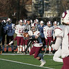 Central Mass. Division 5 championship was held at Foley Stadium, Worcester between (1) Oakmont Regional High School vs. (3) Northbridge High School on Saturday, Nov. 16, 2019. NRHS's #20 Gavin McLaughlin was wide open for this pass. SENTINEL & ENTERPRISE/JOHN LOVE