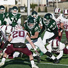 Central Mass. Division 5 championship was held at Foley Stadium, Worcester between (1) Oakmont Regional High School vs. (3) Northbridge High School on Saturday, Nov. 16, 2019. ORHS's #1 Xavain Dean. Waiting to try and tackle his is NHS's #20 Rocco MacNeil. SENTINEL & ENTERPRISE/JOHN LOVE
