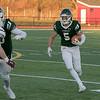Central Mass. Division 5 championship was held at Foley Stadium, Worcester between (1) Oakmont Regional High School vs. (3) Northbridge High School on Saturday, Nov. 16, 2019. ORHS's #5 Ryan McKenna. SENTINEL & ENTERPRISE/JOHN LOVE