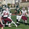 Central Mass. Division 5 championship was held at Foley Stadium, Worcester between (1) Oakmont Regional High School vs. (3) Northbridge High School on Saturday, Nov. 16, 2019. ORHS's #1 Xavain Dean. SENTINEL & ENTERPRISE/JOHN LOVE