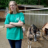 Central Mass Goat Rental in Lunenburg has goats they rent out to people that need vegetation taken care of in their yards. Owner Tammy Hebert talks about her goats and their business on Saturday morning at their farm in Lunenburg. SENTINEL & ENTERPRISE/JOHN LOVE