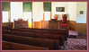 Inside the 106-year-old restored chapel next to the Confederate Cemetery north of Higginsville, Missouri.  Sept. 9, 2008