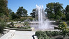 Near the patio gardens, at Powell Gardens, is the major fountain.  The water is cycled to rise up and then die down to repeat itself over and over.  A botanical complex, Powell Gardens is located mid-way between Kansas City and Warrensburg, Missouri on highway 50.  Oct., 2008