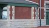 Stone detailing on side of the KATY (M K & T) railroad depot, Sedalia, Missouri.