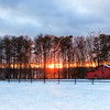 Winter Barn Sunset