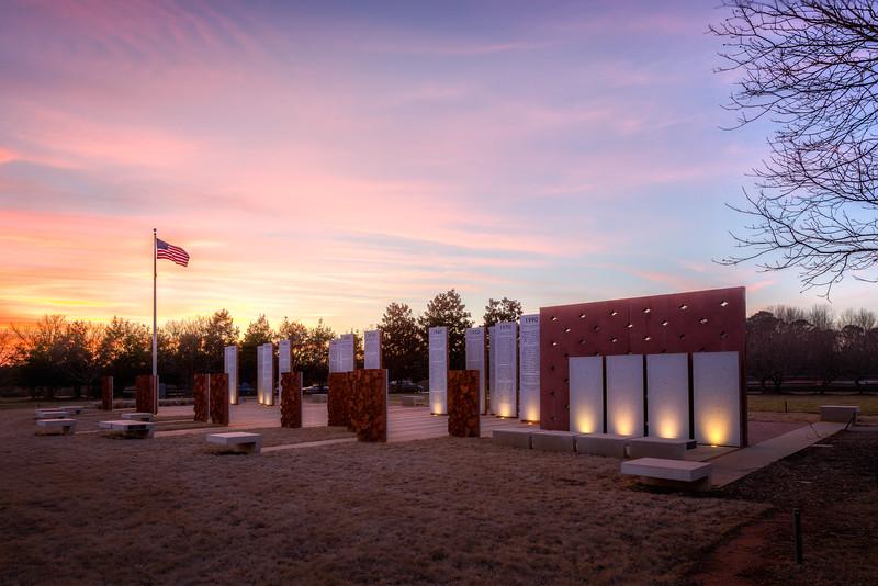 Sunset, Veterans Memorial