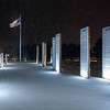 Veterans Memorial at Night