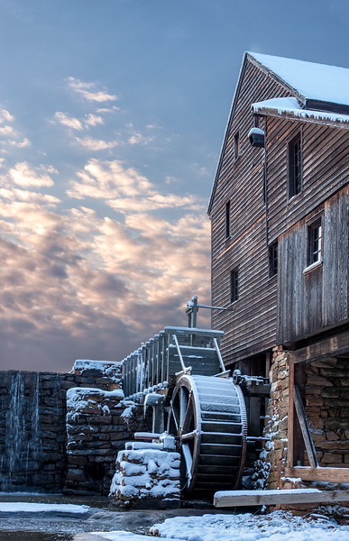Yates Mill. Winter Sunset