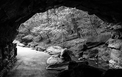 Beneath Huddlestone Arch _ bw