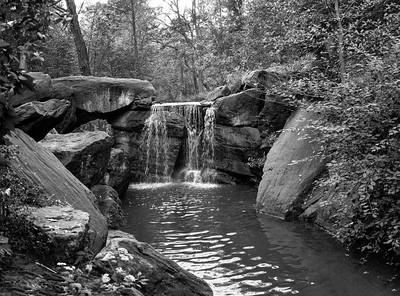 Waterfall _ bw