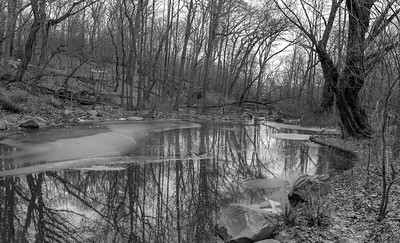 Ravine in January II _ bw