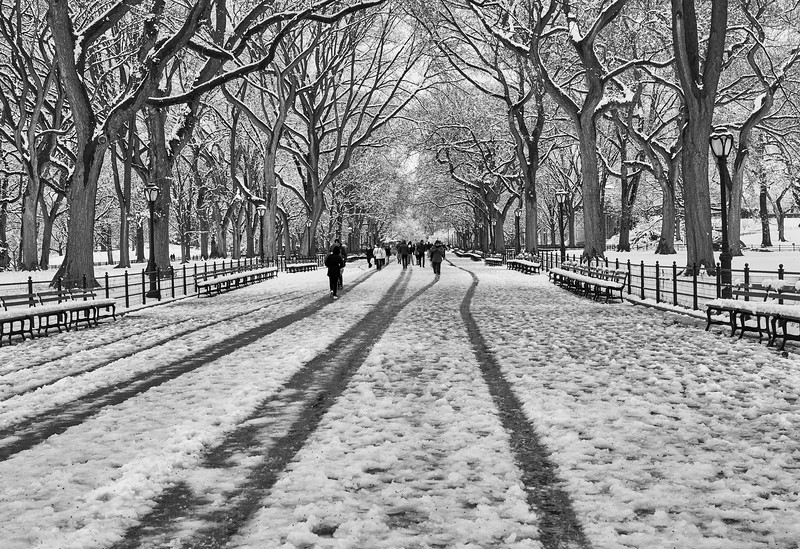 Spring snow on The Mall