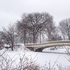 Snow Covered Bow Bridge