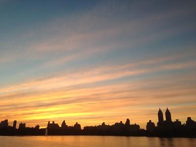Reservoir Sunset Silhouette