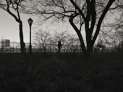 Silhouette - Running on the Reservoir
