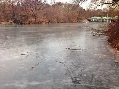 Frozen Lake - Central Park Boathouse