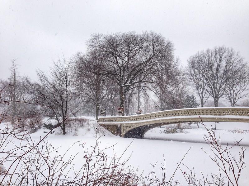 Snow Covered Bow Bridge