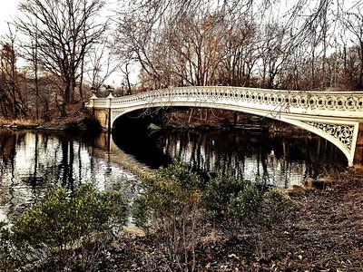 Bow Bridge - Central Park (High Contrast)