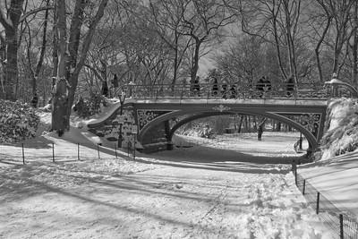 Reservoir Bridge in Winter