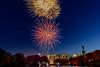 2013 Marathon opening cerimony fireworks. Central Park, New York