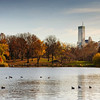The Lake and Midtown skyline. Central Park