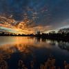 Sunset over Central Park Reservoire. New York City
