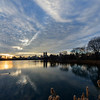 Sunset over Central Park Reservoire. New York City