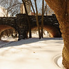 Eaglevale Arch with snow. Central Park, New York