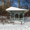 Ladies Pavillion with snow. Central Park, New York