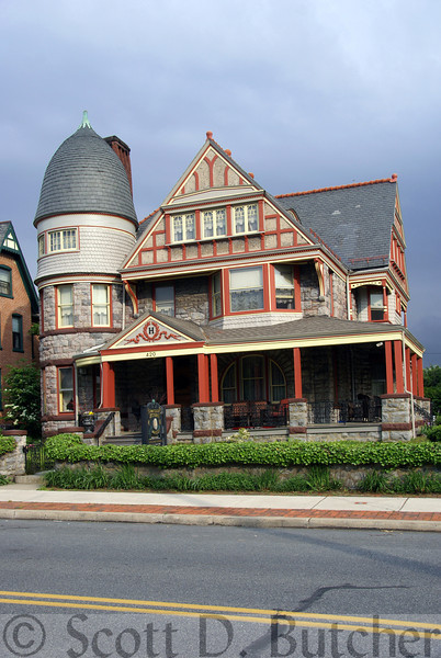 Hermansader's Victorian Mansion in Columbia, PA, is a quintessential example of the exuberant Queen Anne style.  Photo by Scott D. Butcher.
